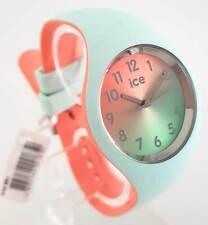Ice-Watch ICE 016981 duo chic Aqua coral S Damenuhr Uhr neu Silikonband mint 110