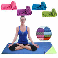Non Slip Yoga Mat Cover Towel Blanket Sport Fitness Exercise Pilates Workout HOT