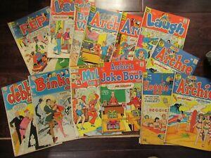 Archie comics lot vintage pep laugh Betty Veronica  Binky joke book 1970s marvel