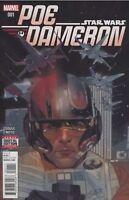 STAR WARS POE DAMERON #1 COVER A MARVEL COMICS 1ST PRINT