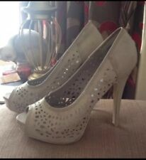 💗New Look Peep Toe Court Shoes In Grey NEW 5 💗👠