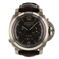 Panerai Luminor 1950 8 Days Titanium Monopulsante GMT Watch PAM00311 PAM 311