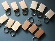 50mmx30mm BEECH KEYRING BLANKS,PYROGRAPHY,ENGRAVINGetc.12 FOR £8-25 inc post