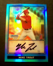 MIKE TROUT 2013 Bowman Sterling Blue Sapphire Refractor 2009 Auto/RC RP