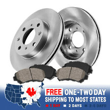 AutoShack BRKPKG003290 Rear Drilled and Slotted Silver Brake Rotors and Semi Metallic Pads
