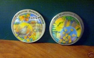 Geocaching California 2006 Geocoin active adoptable