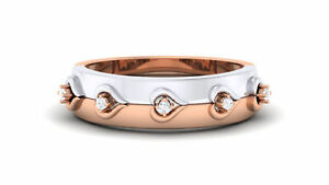 Classy 0.25 Cts Round Brilliant Cut Diamonds Unisex Band Ring In 18Karat Gold