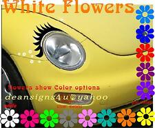 Car Eyelashes eyeLINER Flowers Any Oval headlight vw bug heart hot pink love USA