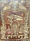OLD VINTAGE RARE HINDU RELIGIOUS GOD TIRUPATI SHRI GOVINDARAJA SWAMY LITHO PRINT