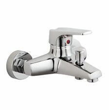 Luxury Wall Mounted Bathroom Basin Sink Faucet Bath Mixer Tap Chrome TSW-0022