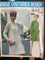 Vintage Vogue Couturier Design Pattern by Michael of London 1913 Size 10