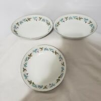 "3 Vintage Fine China Japan 6701 7.5"" Salad or Soup Bowls - Grapes Pattern"