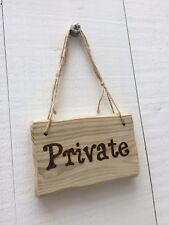 Handmade Rustic Wooden Private Office Hotel Shop Room Bed Bath Room Sign Plaque