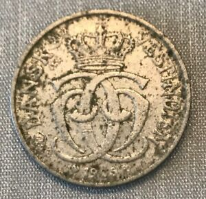 DANISH WEST INDIES 1905-F COPPER NICKEL 5 CENTS NICE OLD TYPE COLONIAL PERIOD