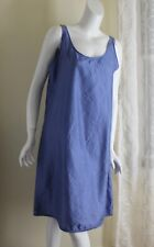 Eileen Fisher -Sz M French Blue All Embroided Silk Frock Dress or Tunic -Fine