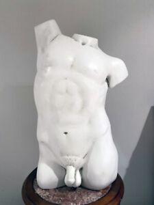 "Nude Naked Man Male Torso Body Statue Sculpture 25"" Replica Reproduction"