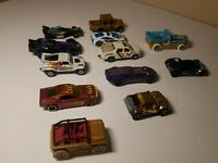 Lot of 12 VINTAGE HOT WHEELS Die Cast Cars Fast Racing Hot Rods Toys Trucks