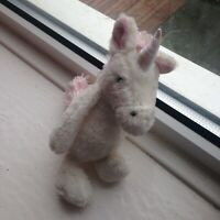 Jellycat Unicorn soft toy comforter pink and white baby soother