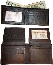 Man's Leather Wallet 12 Card debit card Holder 2 ID Window 2 Billfold Pockets bn