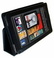 Flip LEATHER Wallet Stand Case Cover For KINDLE FIRE 7 Inch (Not HD) 2011 Model