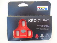 LOOK Keo 9° Float Red Road Bike Pedal Cleats *New*