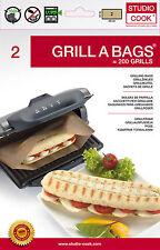 Grillbeutel für Kontaktgrill, Tischgrill, Sandwichmaker, Elektrogrill, Panini