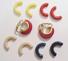 boucles d'oreilles clips bijou vintage demi anneau couleur changeante  *2303