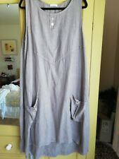 Made in Italy loose fit linen sleeveless dress/tunic OSFA