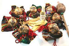 Chumpi stones khuyas Alabaster Shaman 7 chakra reiki set , mesa cloth as a gift