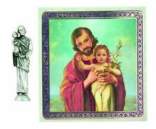St. Joseph Pocket Statue and Holy Card NEW SKU TC574