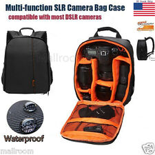 Waterproof DSLR SLR Camera Lens Backpack Case Bag Travel For Nikon For Canon US
