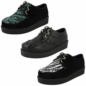 Ladies Spot On Casual Threaded Vamp Thick Sole 'Shoes'