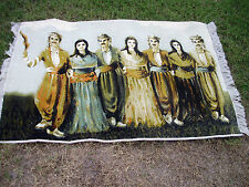 Persian Rug Carpet Featuring Persian Nomadic Men And Women In Traditional Garb