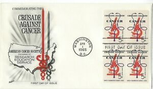 FDC '65 Crusade Against Cancer, Research Education Service Scott#1263