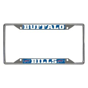 Fanmats NFL Buffalo Bills Chrome Metal License Plate Frame Delivery 2-4 Days
