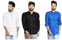 Men's Long Sleeve Shirts Slim Fit Button Down Dress Formal Casual T-shirt Tops