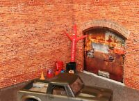1/10 Scale RC Crawler Garage Rustic Brick SIDE Wall Sticker Decal Display 24x24