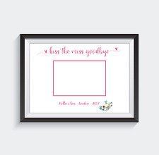 Hen party keepsake. Kiss the miss goodbye. Photograph Space. A4 Print.