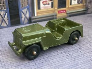 """⭐️VINTAGE TOOTSIE TOY GREEN ARMY JEEP CJ3 MADE IN USA (Nice Paint) 2.5""""⭐️"""