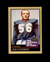 Joe Schmidt Signed 1991 Pro Football HoF Detroit Lions Autograph