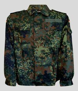 NEW GERMAN ARMY ISSUE FLECKTARN FLECK CAMOUFLAGE SHIRT/JACKET SIZE XL 48 LONG