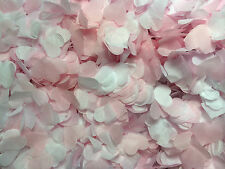 Biodegradable Wedding Confetti Pink & White Hearts Eco 1 Litre Up 10 Sm Handfuls