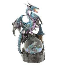 Blue Mystical Dragon Figurine On Waterball New Boxed 61066