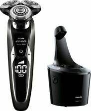 Philips Norelco S9721/84 Electric Shaver with Charger Stand and Case - Black