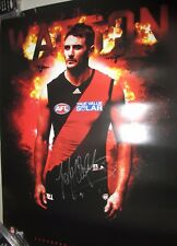 Jobe Watson (Essendon FC) signed Essendon poster AFL   + COA