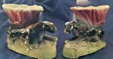 Two Vintage Matching MCM 1950's Panther Planters Excellent Condition