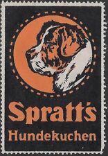 German Cinderella stamp: 1906 Spratt's Hundekuchen / Dog Biscuits - cw47.33