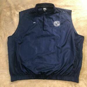FootJoy Golf Vest (BGC) Blackhawk Golf Club Embroidery Logo Mens XXL - Navy Blue