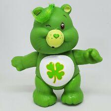 Good Luck Bear Miniature Figurine Vintage Care Bears PVC Mini Figure with Basket of Four Leaf Clovers