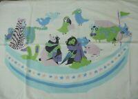 Vintage Fieldcrest Duracale 60s 70s Pillowcase Noah's Ark Animals Children Print